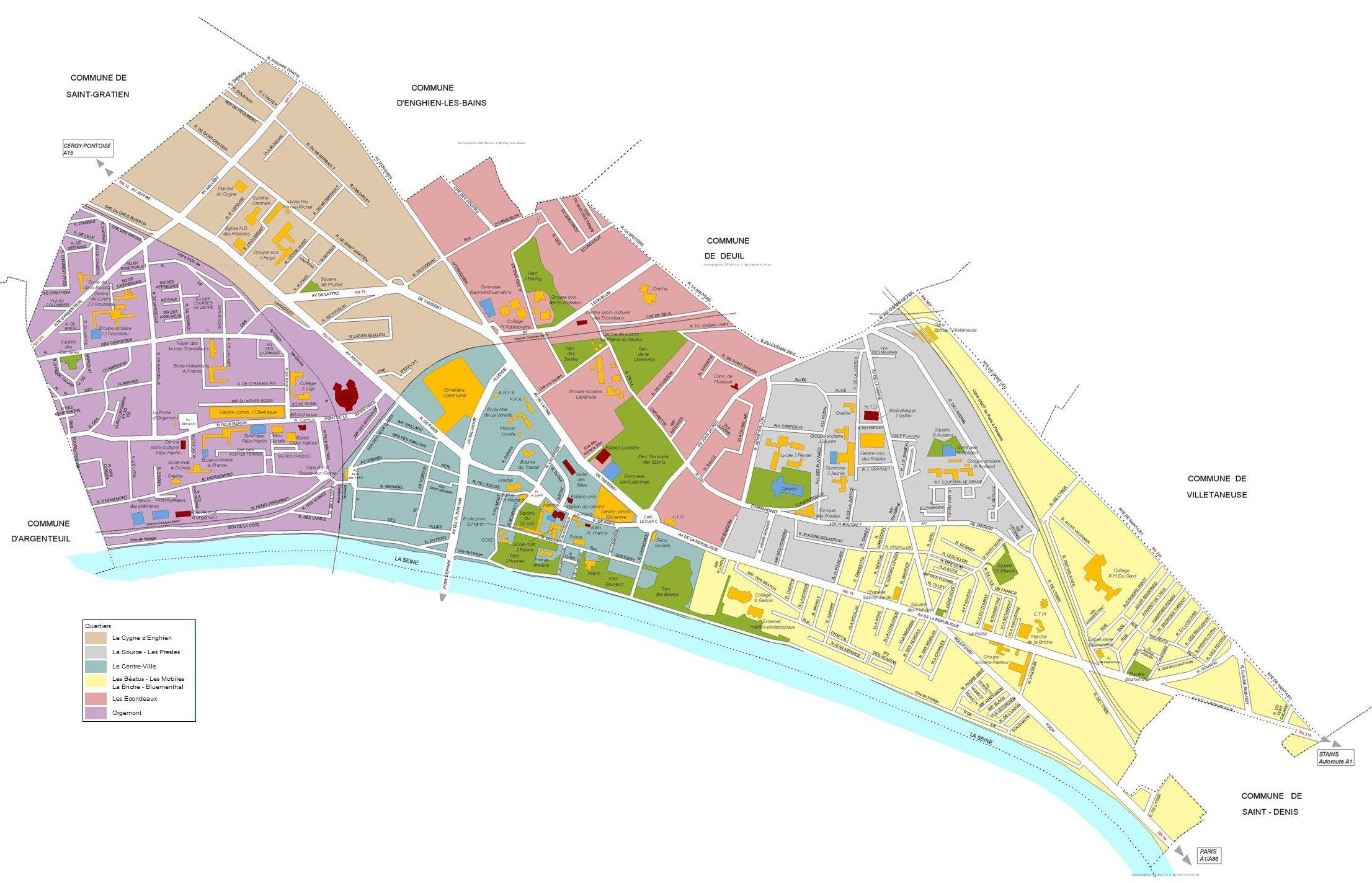plan cue Épinay-sur-Seine